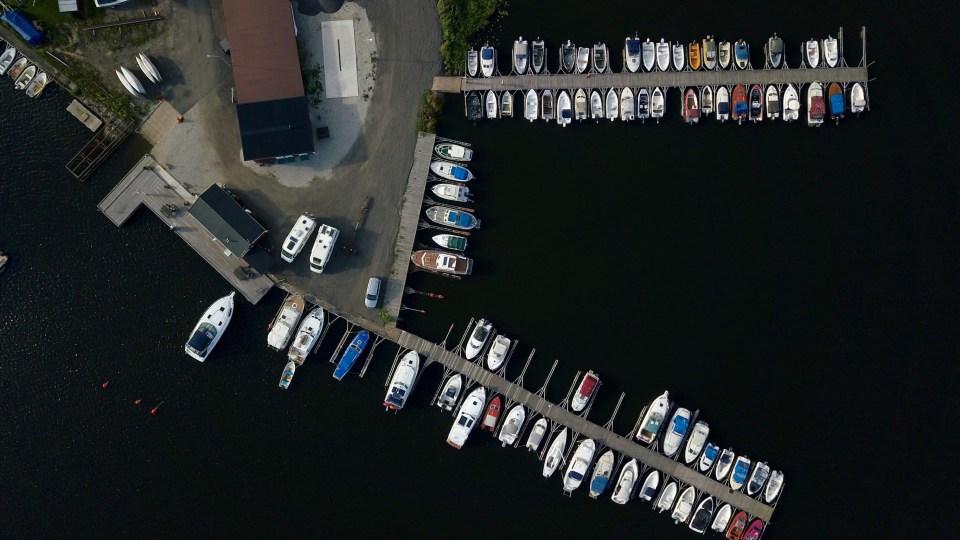 Det var vi och alla båtarna.