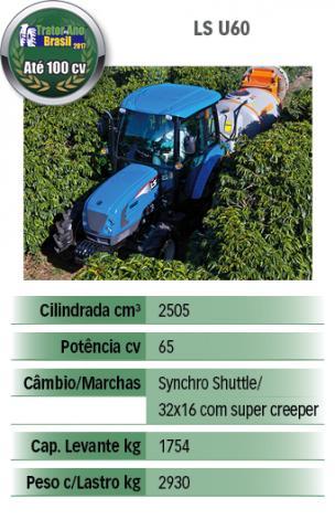 LS Tractor U60 - ficha técnica