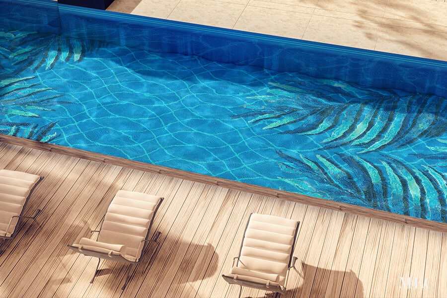 the best way to clean pool mosaic tiles