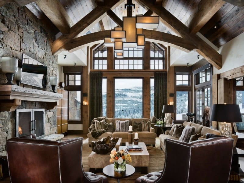 cold weather interiors chalet style mecc interiors inc