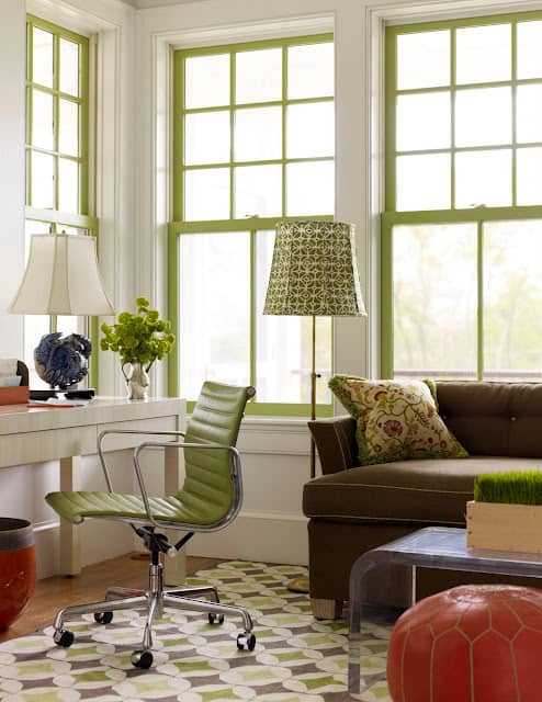 non-white window frames | @mecicinteriors | design bites
