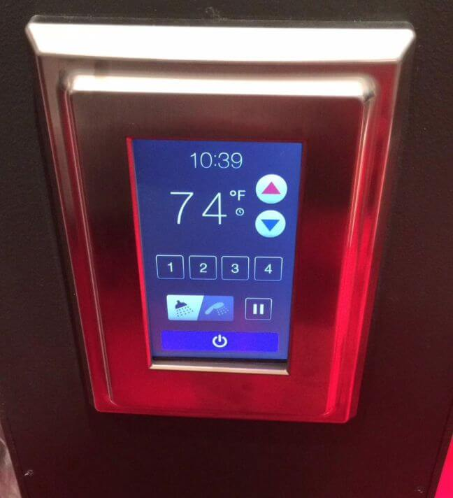 Delta Faucets User Friendly Digital Touch Screen Shower Control Panel  Allows You To Select The Desired