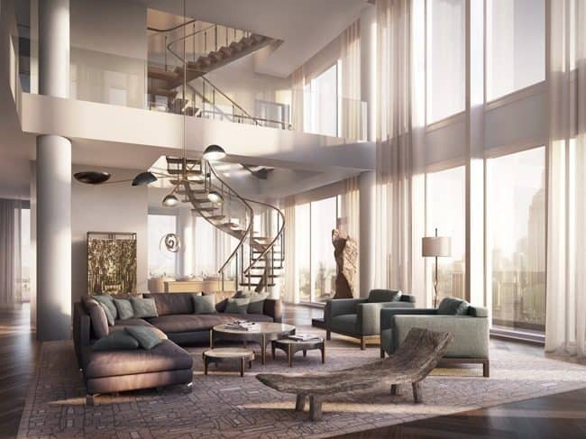 Working With Double Height Rooms Mecc Interiors Inc
