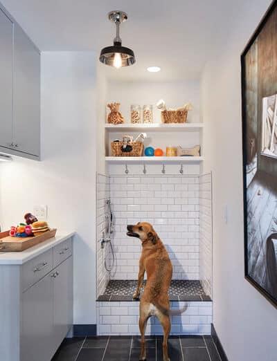 5 practical tips for designing a home dog-washing station | @meccinteriors | design bites