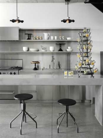 Black Tulip Dining Table, Will Concrete Cabinetry Bring More Strength To The Kitchen Mecc Interiors Inc