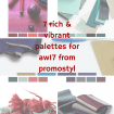 tuesday trending: 7 rich & vibrant palettes for aw17 from promostyl