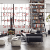 make the most of vertical spaces with ladders