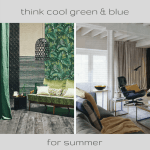 #tuesdaytrending: think cool green and blue for summer   @meccinteriors   design bites