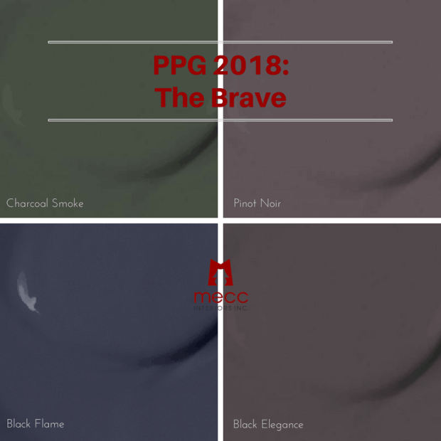 black flame rises as the 2018 colour of the year | @meccinteriors | design bites