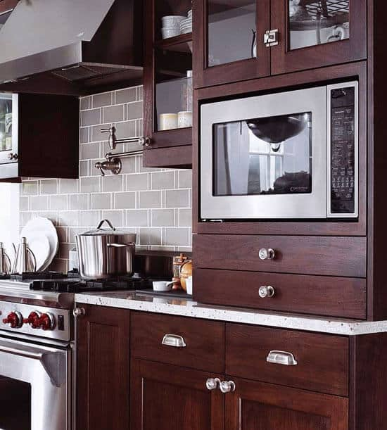 Poor Microwave Placement. Avoid These 4 Kitchen Planning Mistakes |  @meccinteriors | Design Bites