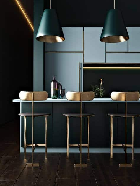 going for gold in the kitchen   @meccinteriors   design bites
