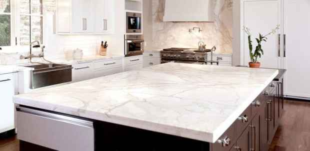 love the look of natural stone counters minus the stone | @meccinteriors | design bites