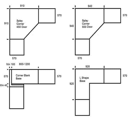 Use Blind Corner Cabinets, Kitchen Upper Corner Cabinet Sizes