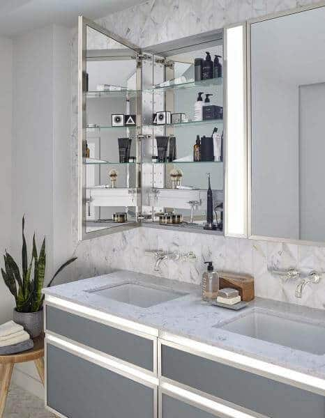 welcome more light in the bathroom with profiles | @meccinteriors | design bites