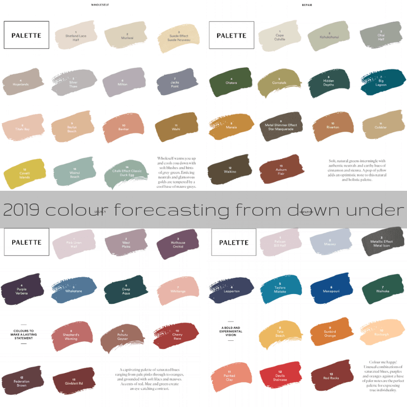 2019 colour forecasting from down under