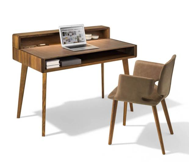 Modern Desk With Private Charging Station Mecc Interiors Inc