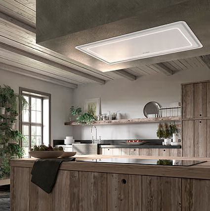 Show Off Your Kitchen With A Ceiling Mounted Recessed Hood