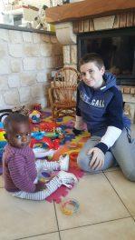 Bertine avec Julien son frère de cœur