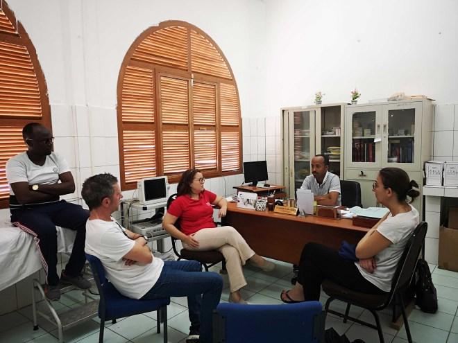 Réunion de l'équipe médicale Mécénat Chirurgie Cardiaque à Djibouti