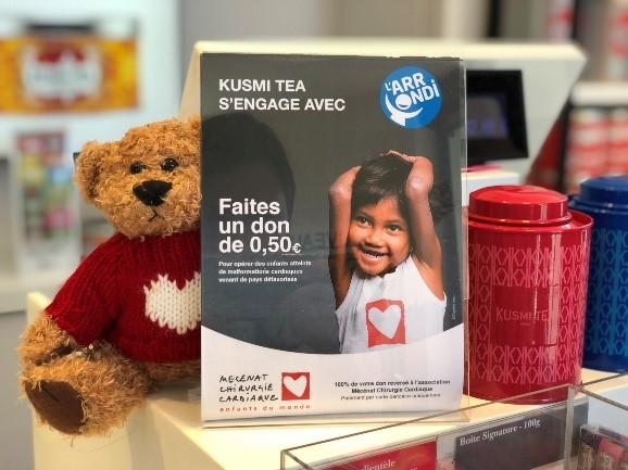 KUSMI TEA - l'ARRONDI - mécénat cardiaque