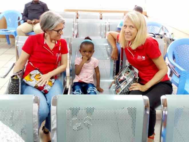 Christine et Nathalie, référents Mécénat Chirurgie Cardiaque à Kinshasa