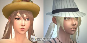 Sims 4 hair シムズ4 髪型 Panda Lna-Lan remodeled Pigtails