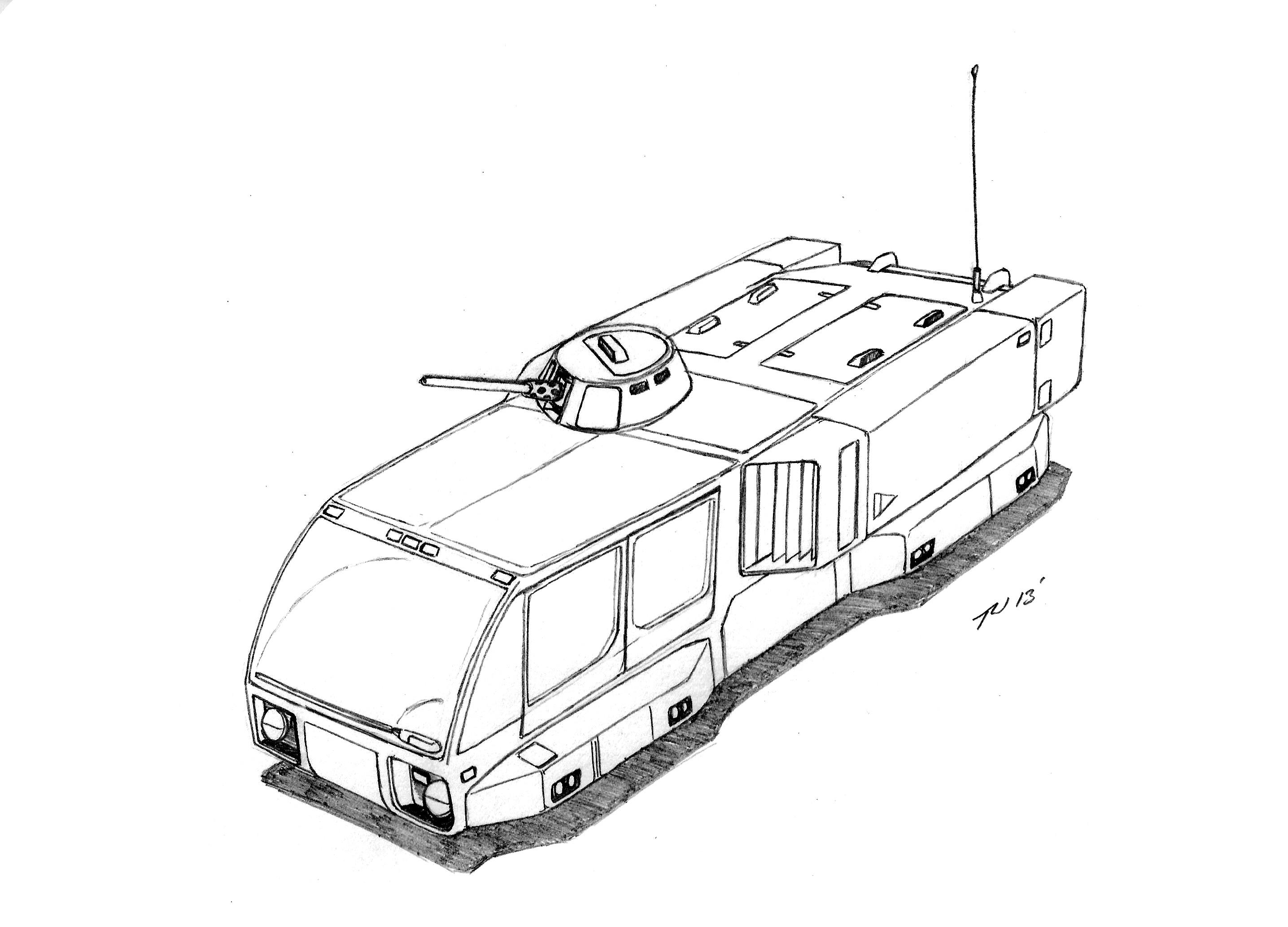 Steyr Daimler Puch Aht 1 Armored Hover Transport