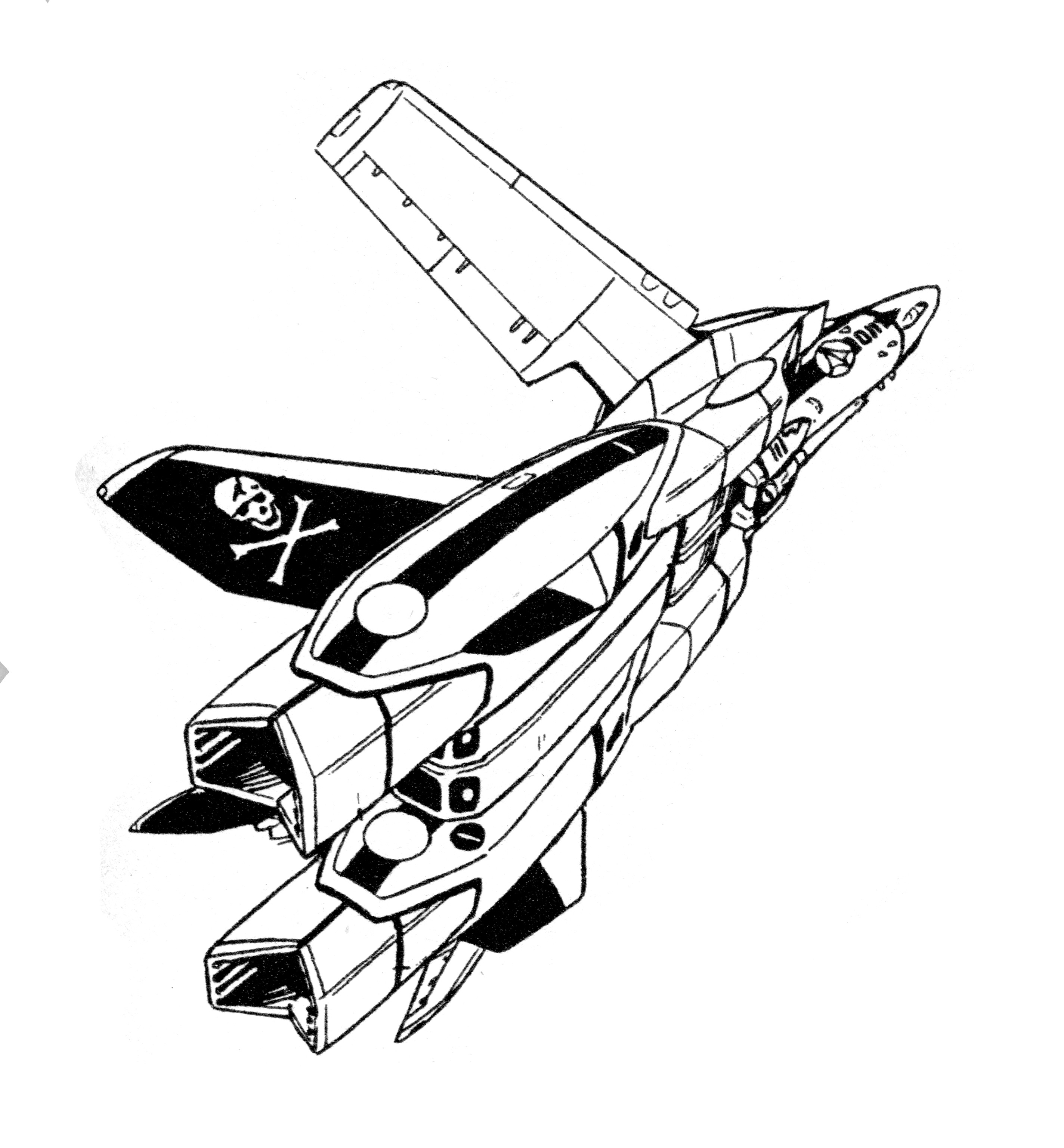 Northrop Vf 1a N Blocks 9 15 Valkyrie Veritech Fighter