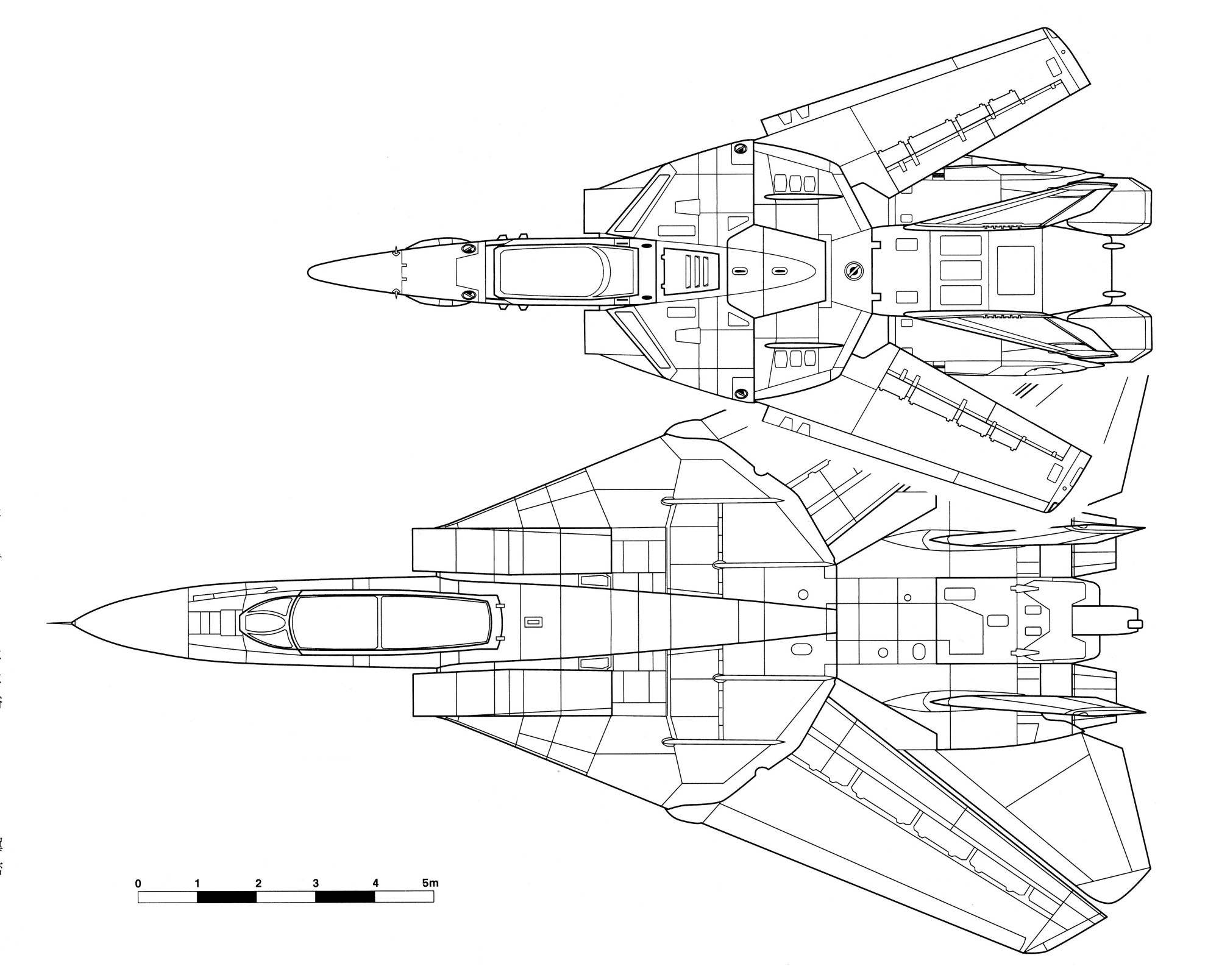 hight resolution of size comparison between the vf 1 valkyrie and a pre war grumman f 14 tomcat