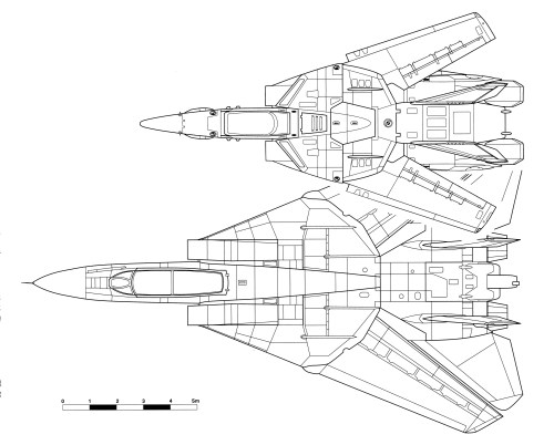 small resolution of size comparison between the vf 1 valkyrie and a pre war grumman f 14 tomcat