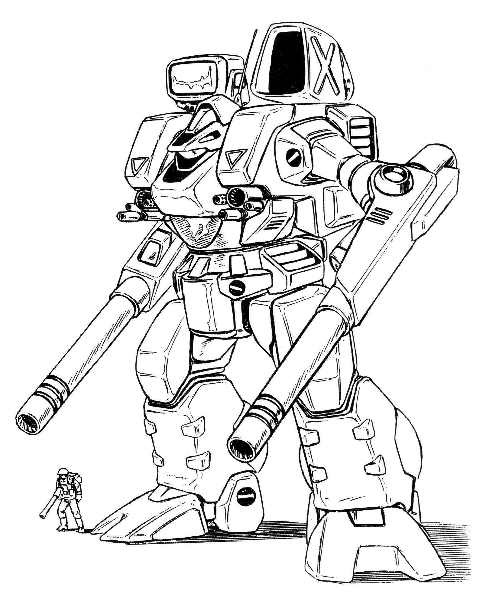 Vickers Chrysler Mbr 04 Mk Vi Tomahawk Main Battle Robot