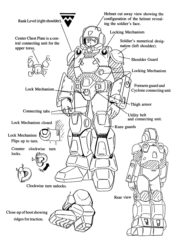 Tiresia RRG CVR-3 Combat Veritech Ride Armor gallery