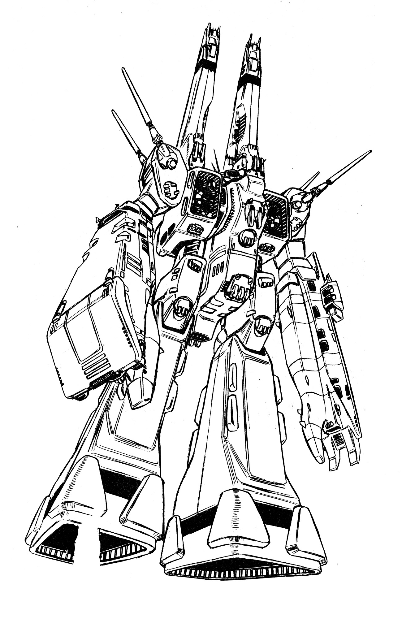 SDF-1 UES Macross Super Dimensional Fortress, external
