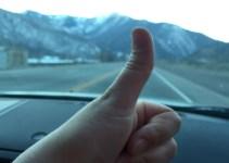 Car Trip Thumbs Up
