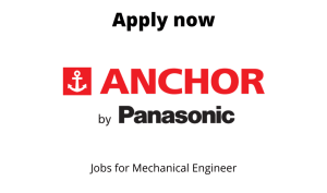 Anchor by Panasonic Hiring | Senior Executive – Professional lighting | BTech/BE in Electrical/  Electronics/ Telecommunication/ Mechanical Engineering |