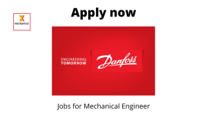 Danfoss Hiring | Consultant – Component Cost Down | Bachelor's degree in Mechanical Engineering |