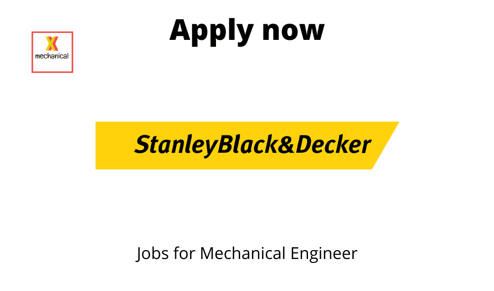 Stanley Black & Decker is Hiring | Manufacturing Engineer |