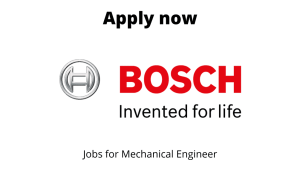 Bosch Packaging Hiring | Manager – Projects | Graduate/ Diploma in Mechanical Engineering |