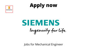 Siemens is hiring | Design Engineer | Bachelors/ Masters in Mechanical engineering |