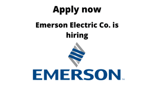 Emerson Electric is hiring | Fresher – Trainee | Graduate in Mechanical/ Instrumentation/ Mechatronics/ Production/ Industrial |