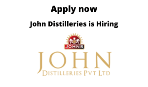 John Distilleries is Hiring |Trainee/ Operators/ Executive production | ITI in Electrician/ Fitter or Diploma/ BE/ BTech in Electronics/ Mechatronics / Mechanical |