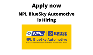 NPL BlueSky Automotive is Hiring | Production Engineer | BTech/ BE in Mechanical/ Chemical |
