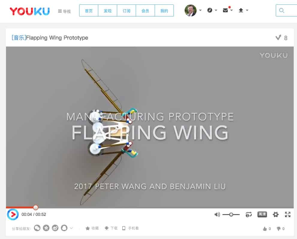Youku Flapping Wing