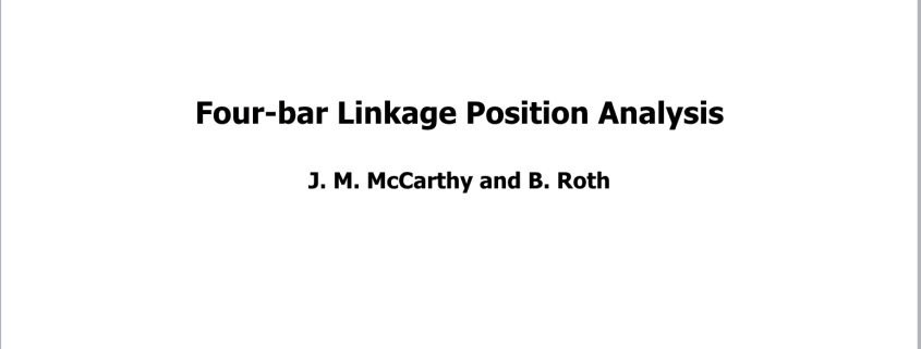 T1 Four-bar Linkage Analysis