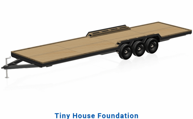 Tiny House Trailer Plans 32 Or 30 Bed Triple Axle