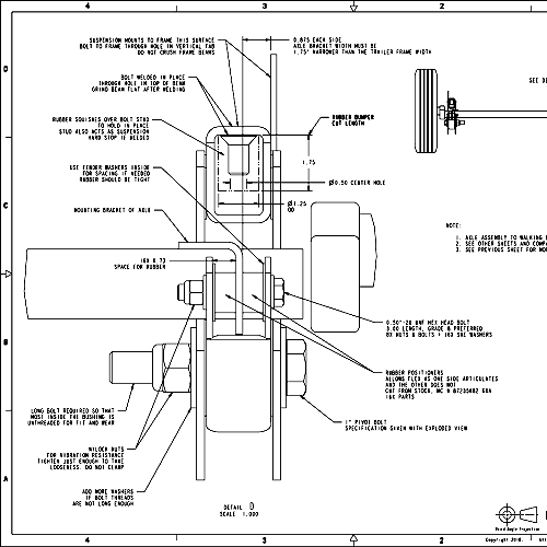 Walking Beam Suspension Plans w/ Torsion Axles