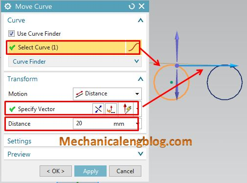 nx tutorial copy move objects in sketch - Mechanicalengblog
