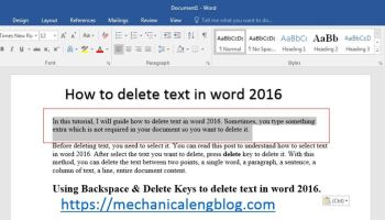 How to move text in word 2016 - Mechanicalengblog