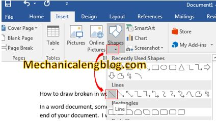 create solid line in word