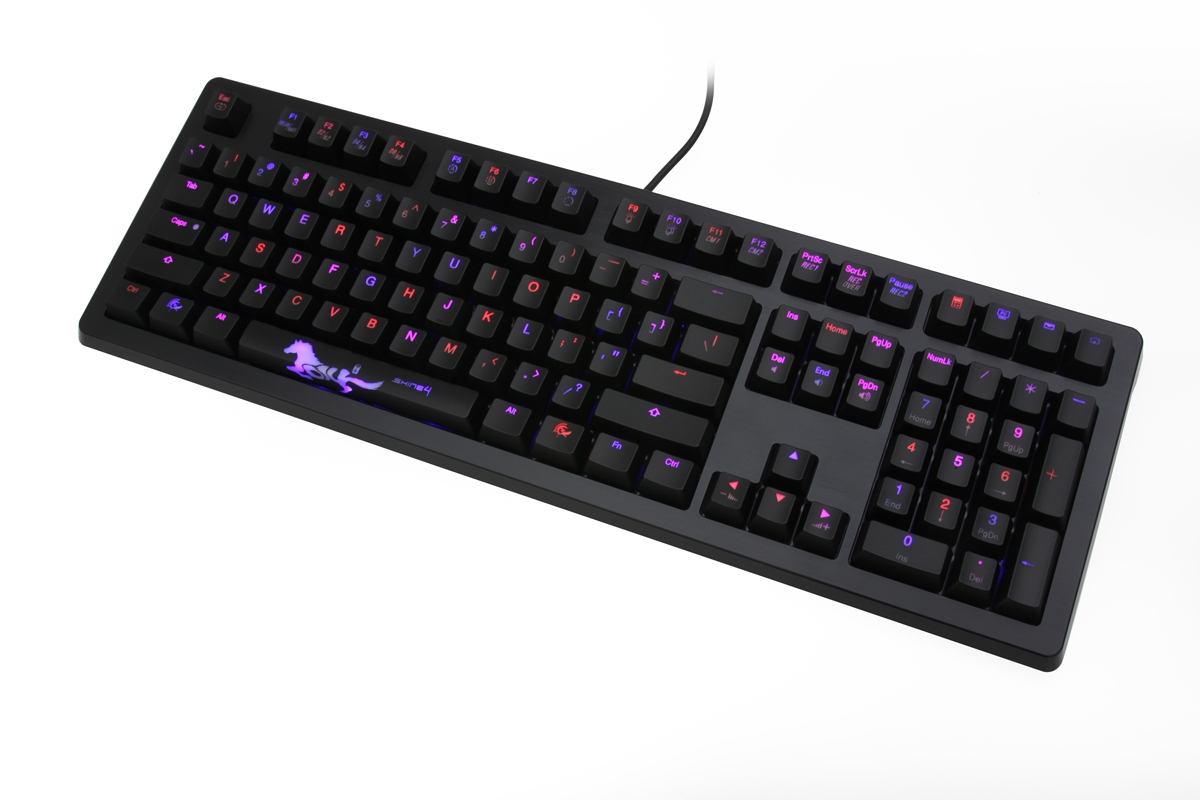 Ducky DKSH1408SD Shine 4 Red & Blue Dual LED Backlit Mechanical Gaming Keyboard (Brown Cherry MX)
